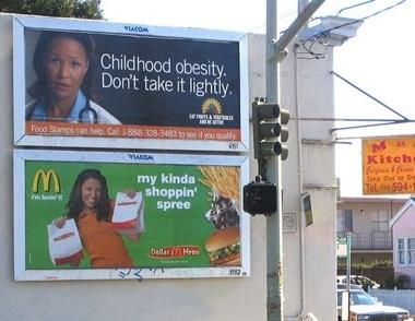 Obesity-Mickey D BIllboard Irony