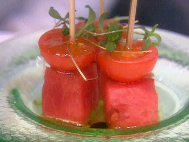 Tomato watermelon skewers
