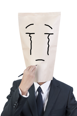Paper Bag Writer Sad