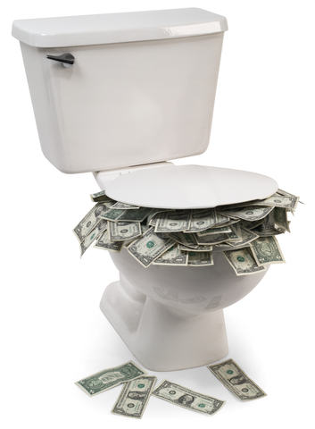 Flush with cash but be careful whats mixed in with the message
