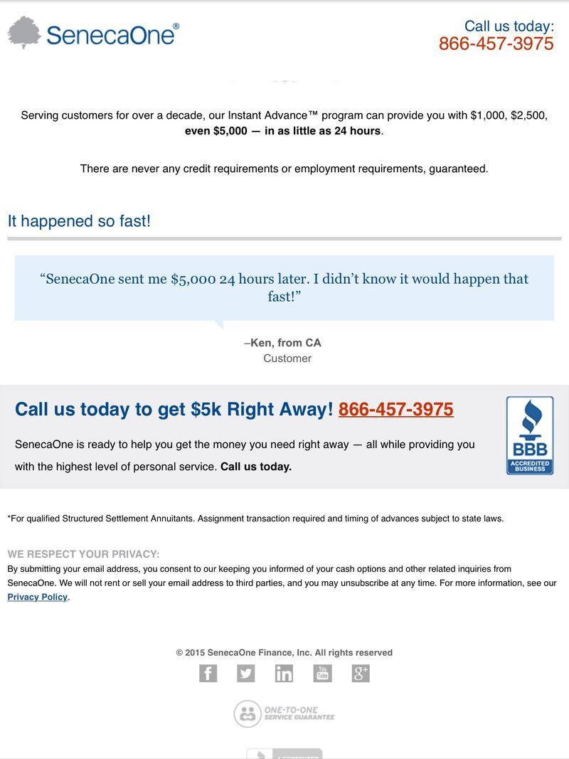 Seneca One Finance Inc on website
