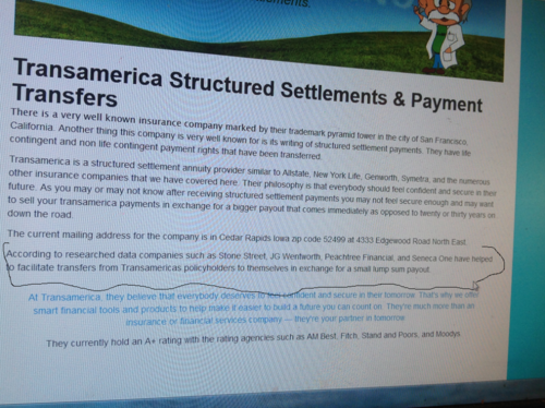 Lump sum for structured settelment its a small world