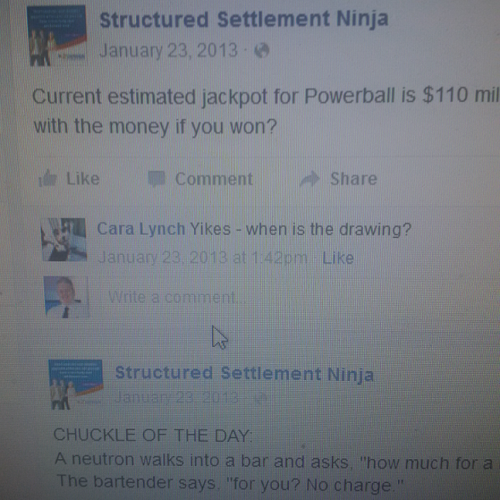 Same  Facebook post but Cara Lynch asks same wuestion at 142pm  and Springer;s wife Melissa has been eliminated