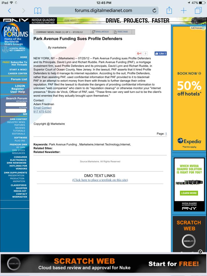 Park Avenue Funding Sues Profile Defenders  Richart Ruddie.pdf