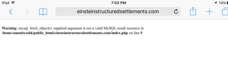 Einstein structured settlements annuity sold error 9-23-1016