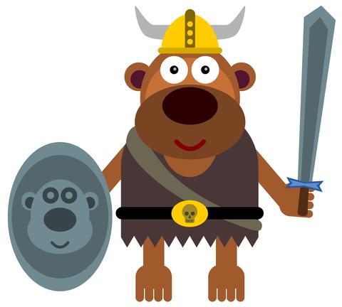 Viking gorilla
