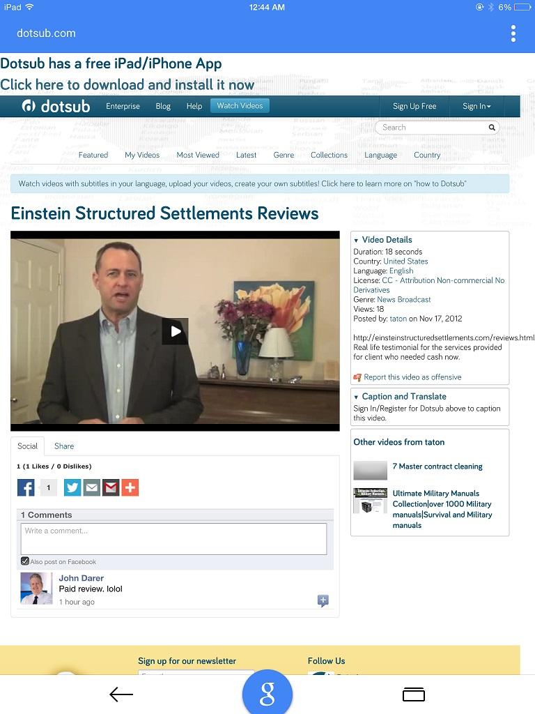 Einstein SS Chip Paid Review 11-17-2012