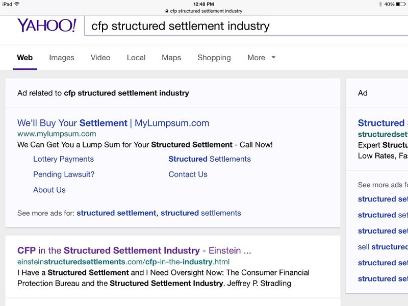 CFP in the Structured Settlement Industry