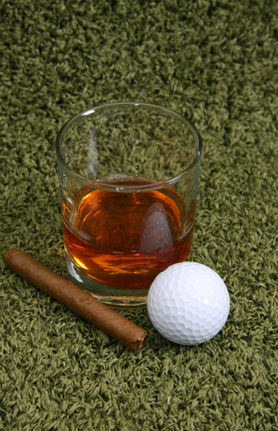Life insurance cigars and golf