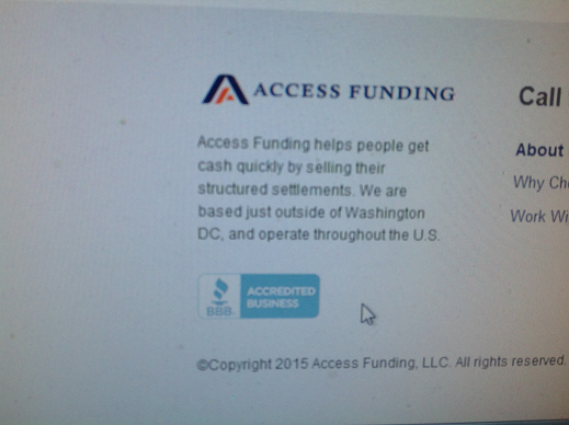 Access Funding Website BBB seal