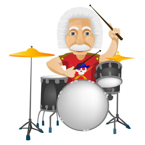 Einstein Drum rhymes with