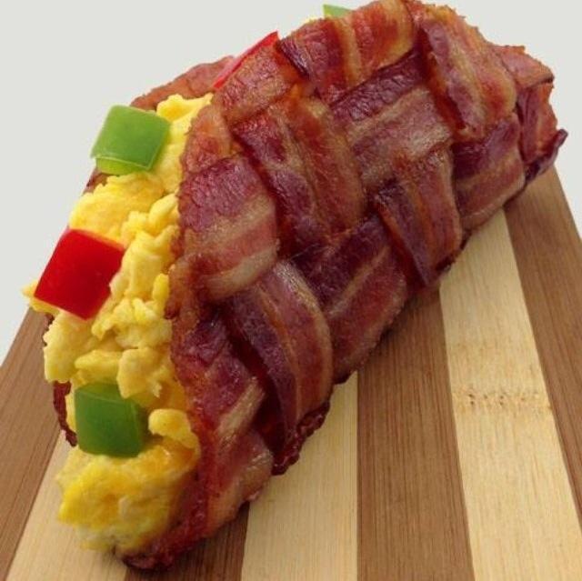 Scarmbled Bacon wrap