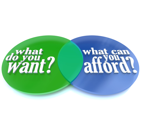 What Do You Want vs Can You Afford