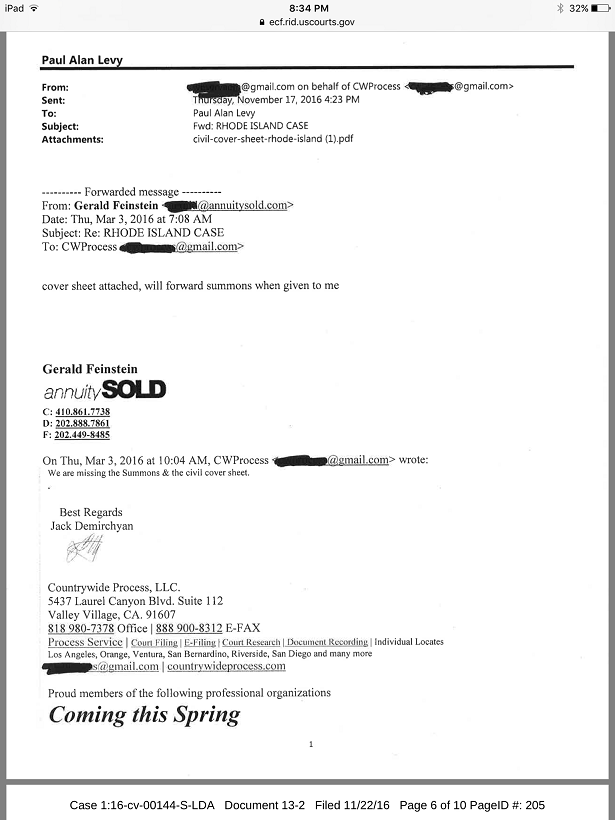 Annuity Sold  connection Smith Garcia case  RI