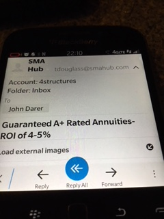 SMA Hub solicits CT investor with Structured Settlement Derivative Scam Labeled Annuity