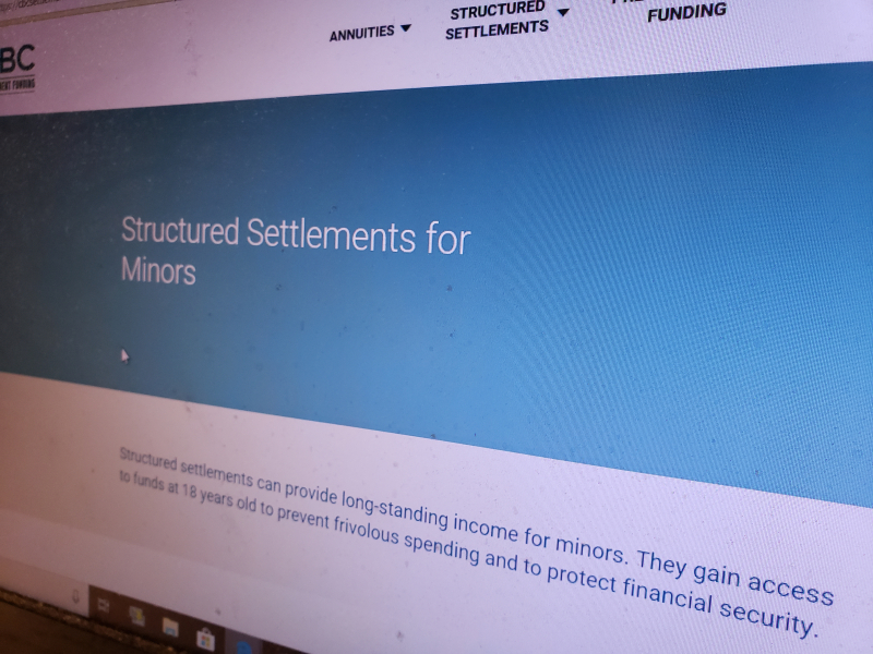 CBC structured settlements minors
