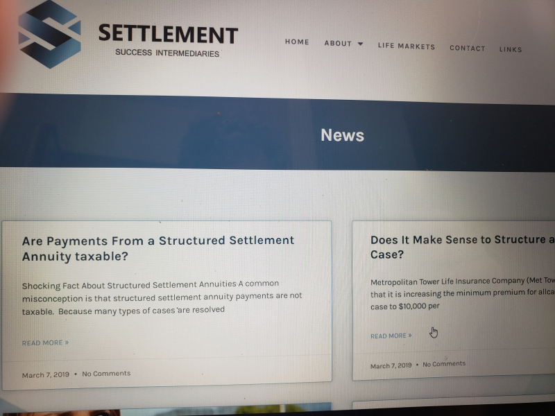 Settlement Success News