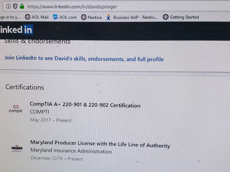 20190808_142436  David Springer Linkedin 8-8-2019 screenshot 1