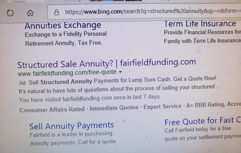 Fairfield FundIng paid Bing keyword ad 6-29-2019 20190629_114950