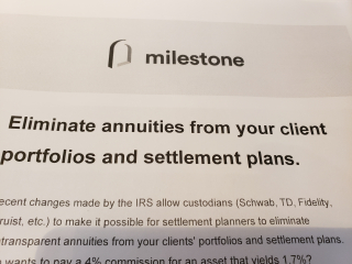 Milestone Consulting Trashes Annuities 4-20-2020