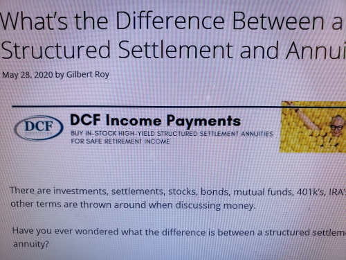 DCF structured settlement annuities challenge