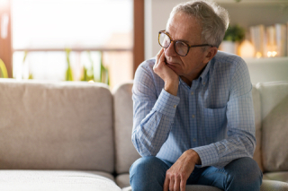 Worried retiree