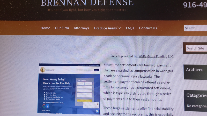 We pay more funding embedded link in law firm website