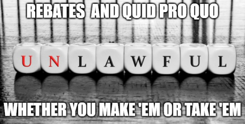 Rebating and insurance or annuities