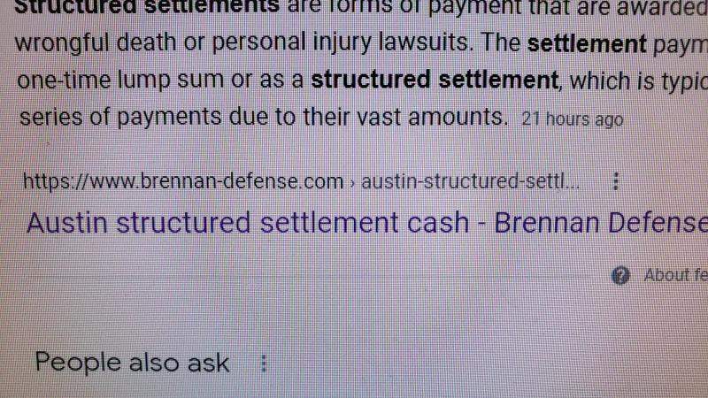 Austin structured settlement cash